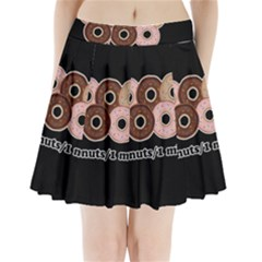 Five donuts in one minute  Pleated Mini Skirt