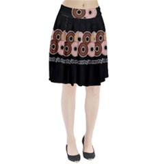 Five donuts in one minute  Pleated Skirt