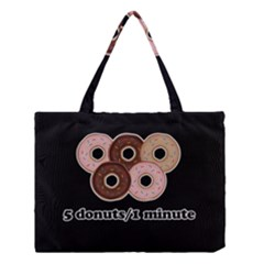 Five donuts in one minute  Medium Tote Bag