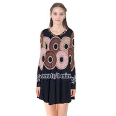 Five donuts in one minute  Flare Dress