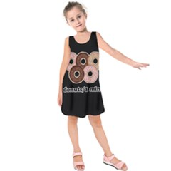 Five donuts in one minute  Kids  Sleeveless Dress
