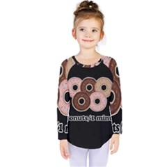 Five donuts in one minute  Kids  Long Sleeve Tee