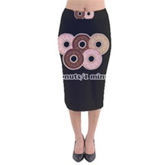 Five donuts in one minute  Velvet Midi Pencil Skirt
