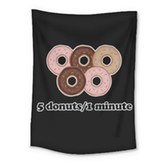 Five donuts in one minute  Medium Tapestry