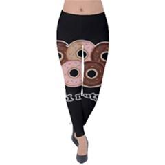 Five donuts in one minute  Velvet Leggings