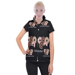 Five donuts in one minute  Women s Button Up Puffer Vest
