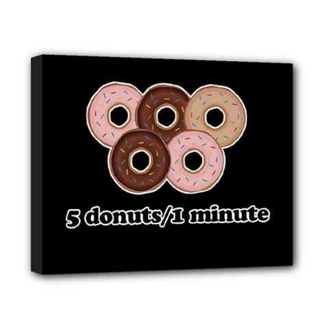 Five donuts in one minute  Canvas 10  x 8