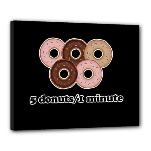Five donuts in one minute  Canvas 20  x 16