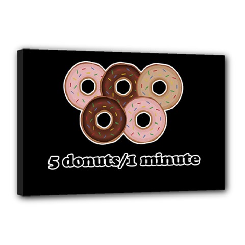 Five donuts in one minute  Canvas 18  x 12