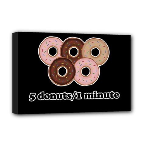 Five donuts in one minute  Deluxe Canvas 18  x 12