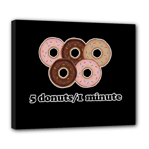 Five donuts in one minute  Deluxe Canvas 24  x 20
