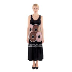 Five donuts in one minute  Sleeveless Maxi Dress