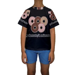 Five donuts in one minute  Kids  Short Sleeve Swimwear