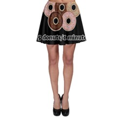 Five donuts in one minute  Skater Skirt