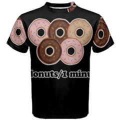 Five donuts in one minute  Men s Cotton Tee