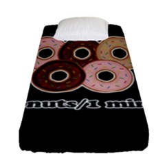 Five donuts in one minute  Fitted Sheet (Single Size)