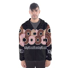 Five donuts in one minute  Hooded Wind Breaker (Men)