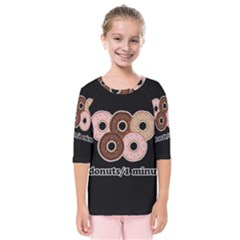 Five donuts in one minute  Kids  Quarter Sleeve Raglan Tee