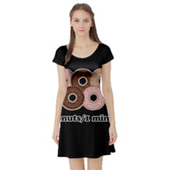 Five donuts in one minute  Short Sleeve Skater Dress