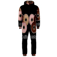 Five donuts in one minute  Hooded Jumpsuit (Men)