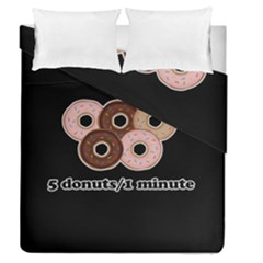 Five donuts in one minute  Duvet Cover Double Side (Queen Size)