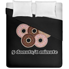 Five donuts in one minute  Duvet Cover Double Side (California King Size)