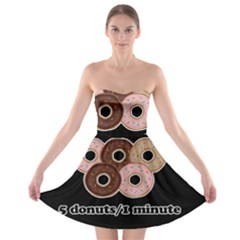 Five donuts in one minute  Strapless Bra Top Dress
