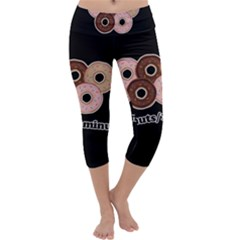 Five donuts in one minute  Capri Yoga Leggings