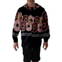 Five donuts in one minute  Hooded Wind Breaker (Kids)