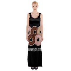 Five donuts in one minute  Maxi Thigh Split Dress