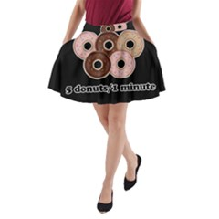 Five donuts in one minute  A-Line Pocket Skirt