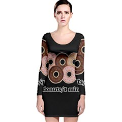 Five donuts in one minute  Long Sleeve Velvet Bodycon Dress