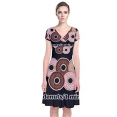Five donuts in one minute  Short Sleeve Front Wrap Dress