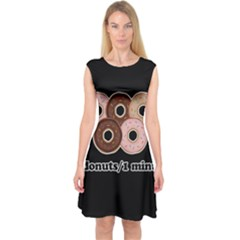 Five donuts in one minute  Capsleeve Midi Dress