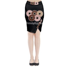 Five donuts in one minute  Midi Wrap Pencil Skirt