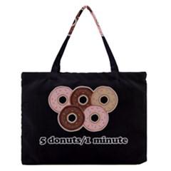Five donuts in one minute  Medium Zipper Tote Bag
