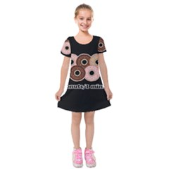 Five donuts in one minute  Kids  Short Sleeve Velvet Dress