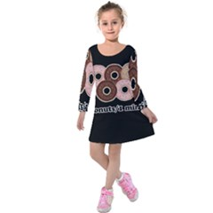 Five donuts in one minute  Kids  Long Sleeve Velvet Dress