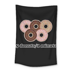 Five donuts in one minute  Small Tapestry