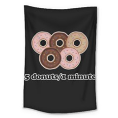 Five donuts in one minute  Large Tapestry