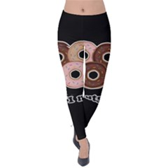 Five donuts in one minute  Velvet Leggings