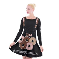 Five donuts in one minute  Suspender Skater Skirt