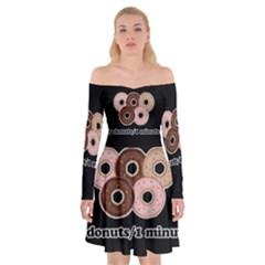 Five donuts in one minute  Off Shoulder Skater Dress