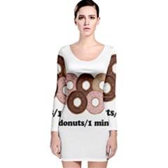 852 Long Sleeve Velvet Bodycon Dress