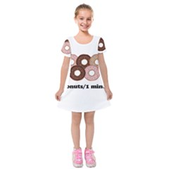 852 Kids  Short Sleeve Velvet Dress