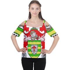 County Donegal Coat of Arms Women s Cutout Shoulder Tee