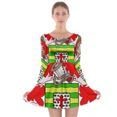 County Donegal Coat of Arms Long Sleeve Skater Dress