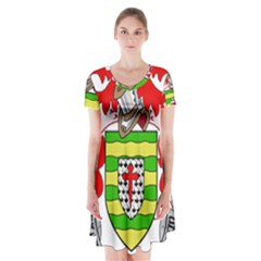 County Donegal Coat of Arms Short Sleeve V-neck Flare Dress