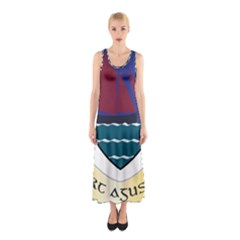 Coat of Arms of County Galway  Sleeveless Maxi Dress