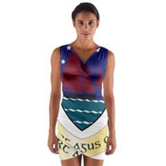 Coat of Arms of County Galway  Wrap Front Bodycon Dress